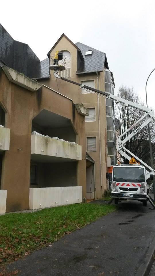 Nettoyage des façades extérieures