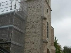 Echafaudage pour réhabilitation d'une église