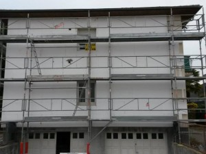 Echafaudage pour étanchéité et ravalement de façade